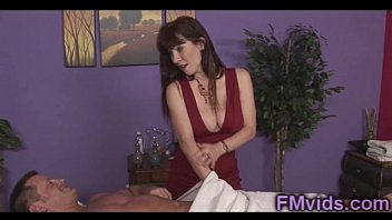 Busty masseuse Rayveness riding cock