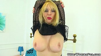 Laced sex boots - English milf lucy gresty fingers her tight arse