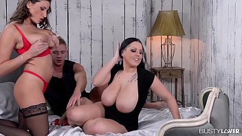 Friends of big titties get off while watching Themis  & Sensual Jane fucked