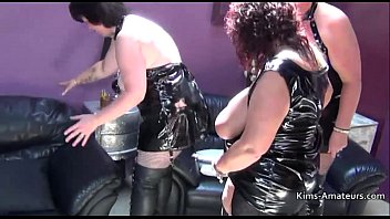 Busty British matures in PVC 3 min