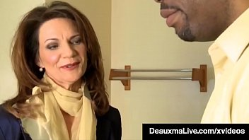 Mature Flight Attendants, Deauxma whips out her big ass boobs and major fucks a Big Black Cock in this interracial miles high clip! Full Video & Deauxma Live @ DeauxmaLive.com!
