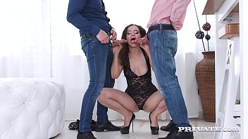 Private.com - Mickey Moor Gets 2 Cocks Up Her Ass & On Face!