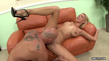 Blonde bimbo, Alektra Blue is moaning during steamy sex