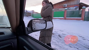 SPY CAMERA Real russian blowjob in car with conversations 7 min