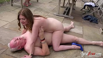AgedLovE Mature got Fucked Hard on the Pavement