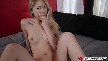 Stepbrother makes stepsister Lulu Chu suck his cock