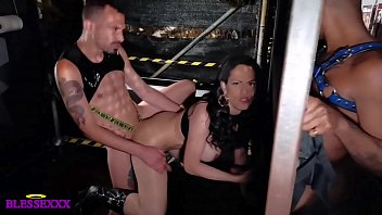 I'm fucking a shemale when we see a black cock at gloryhole - Lludy Fortune & Koldo Goran