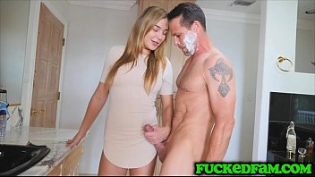 Natural Teen Blair Williams Grabs Stepdad By The Dick