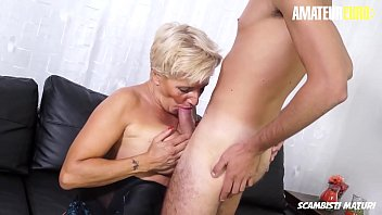 AMATEUR EURO - #Shadow - BBW Sexy Italian Cougar Loves To Be Drilled By A Big Cock Boy
