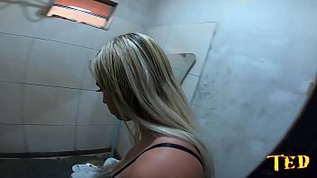 Wanessa Boyer is caught by surprise in the quick shower inside the joinery - Dogaloy