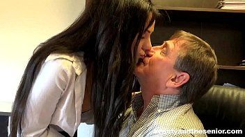 Mature older men daddies senior Pierced brunette teen bella fuck an old cock