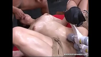 Bound Japanese Submissive Has Her Clit Tormented By Three Asian Lovers