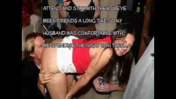 Wife gets totally wasted and gangbanged at a party