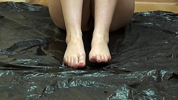 The best pissing and foot fetish, the compilation of a golden shower from a hairy pussy in different poses.