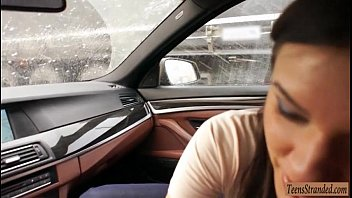 Busty teen babe Kitana Lure gets her ass ripped in a car