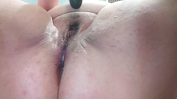 Teen BBW solo masturbation and squirting orgasm with dildo