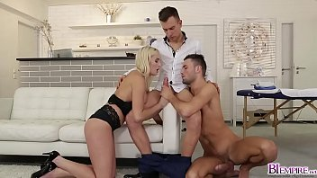 Hot massage turns into a hot threesome bi fucking with Daisy Lee Jeffrey Lloyd and Jamie Oliver!