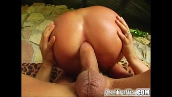 Ass Traffic Young blonde takes it from behind swallows a mouthful