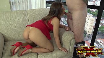 Blonde in red dress without panties caught giving ass to executive client - Pamela Pantera - Flavia Tamayo - Full scene on Red