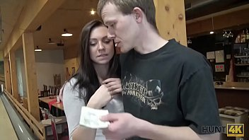HUNT4K. Guy penetrates attractive beauty while cuckold plays bowling
