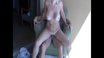 Big tits amateur love suck and fuck on balcony