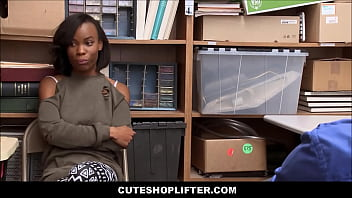 Cute Black Ebony Teen Ivory Logan Caught Shoplifting Clothes Fucked By White Mall Cop For No Jail Time