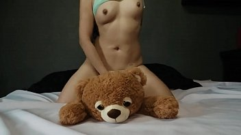 Petite Teen Plays With Her Teddy Bear - Agatha Dolly - Squirt