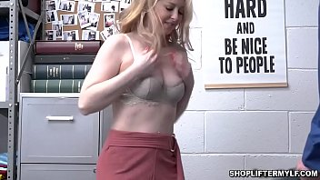 Hot blonde MILF thief Sunny Lane was caught stealing some items and hide it in her undies. She gets a hot sex with the officer as punishment.