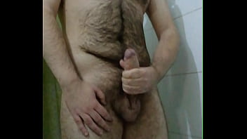 Chubby gay man porn video Gay chubby bear jerks off and cums in shower