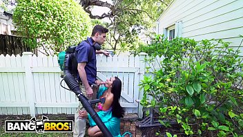 BANGBROS - Ebony Wifey Priya Price Cheats On Husband With The Gardener