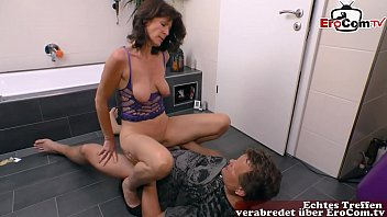 german mature woman seduced husband with sexy underwear