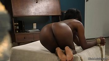 Husband whips ass to tied black wife