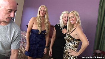 3 Blonde MILFs In a Full-On Orgy