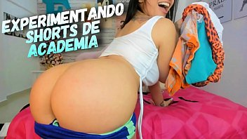 Naughty Big Butt Latina Try on Working Out tight shorts - Teasing QUEEN - Dirty Talk
