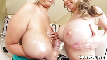 Two amazing busty sluts Kagney Lynn Karter and Bridgette B.