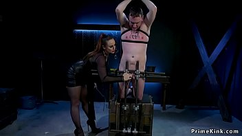 Huge tits msitress whipping male slave