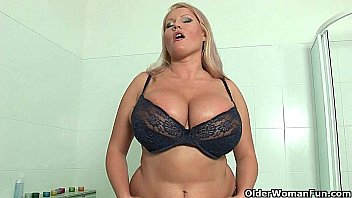 Laura okmin nude - Blonde milfs with big tits give their pussy a treat