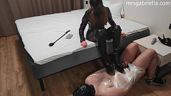 Sub Wrapped In Bondage Gets Harsh Chastity CBT & Denial