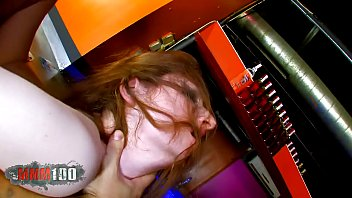 Redhead barmaid fucked hard in her ass for money