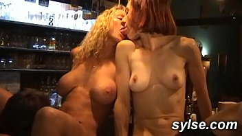 Anal_gangbang for 3_MILFs maids in the_pub