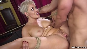 Husband bangs huge tits blonde wife bdsm