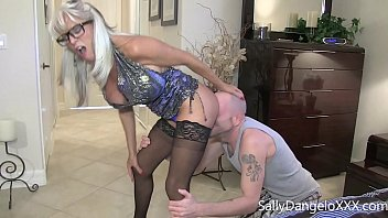 Young guy bangs his big white cock in his MILF stepmommy  Sally D'angelo Flynt Dominic