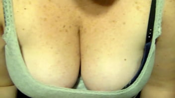 Ex-Gf showing her big tits off to my friend