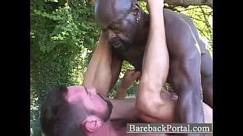 Gay black men huge cock - Huge black stud breeding white guy