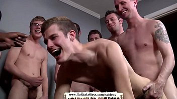 Bareback twink orgy Navy boy loves bareback fucking and facial cumshots