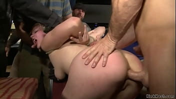 Blonde anal public banged and fisted