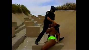 Slutty ebony babe with natural tits Sensuous Lee banged by dirty policeman