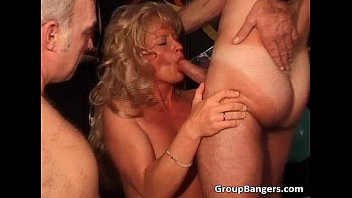 Party orgy with ginger and blond MILF
