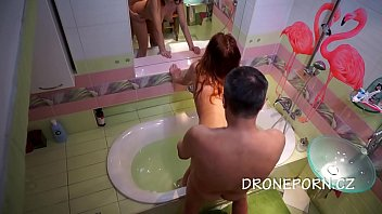 Candy Red - Good sex in the bathtub, Hidden camera
