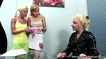 Lesson mature young Two blonde russian teens get a lesson of lesbian sex